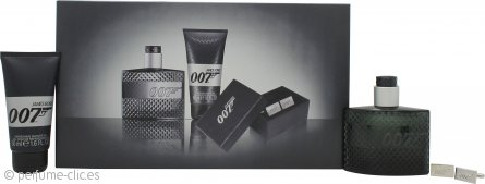 James Bond 007 Set de Regalo 50ml EDT + 50ml Gel de Ducha + Gemelos