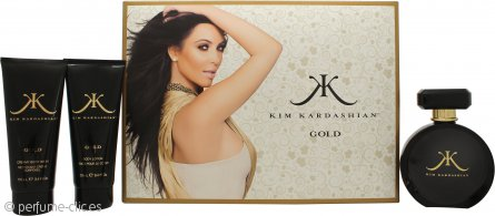Kim Kardashian Kim Kardashian Gold Set de Regalo 100ml EDP + 100ml Loción Corporal + 100ml Gel Corporal