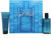 Davidoff Cool Water Set de Regalo 75ml Aftershave Vaporizador + 75ml Gel de Ducha