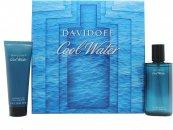 Davidoff Cool Water Set de Regalo 75ml Aftershave Vaporizador + 75ml Gel de Ducha