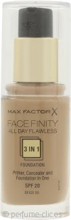 Max Factor Facefinity All Day Flawless 3 in 1 Base 30ml - FPS20 Beige 55