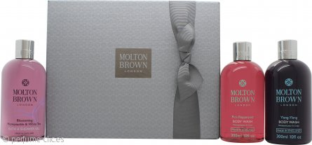 Molton Brown Blissful Bathing Set de Regalo 3 x 300ml Gel Corporal (Pink Pepperpod + Honeysuckle & White Tea + Ylang-Ylang)