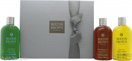 Molton Brown Men Signature Washes Set de Regalo 3 x 300ml Gel Corporal (Black Peppercorn + Bushukan + Silver Birch)