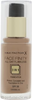 Max Factor Facefinity All Day Flawless Base 3 en 1 SPF20 30ml - 85 Caramel