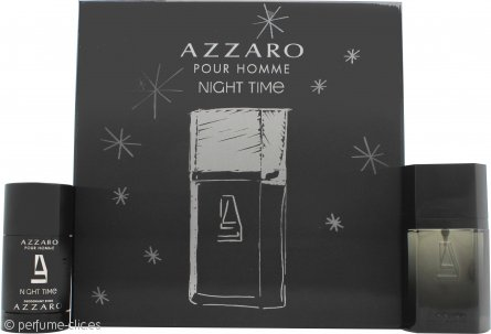 Azzaro Night Time Pour Homme Set de Regalo 50ml EDT + 75ml Desodorante en Barra