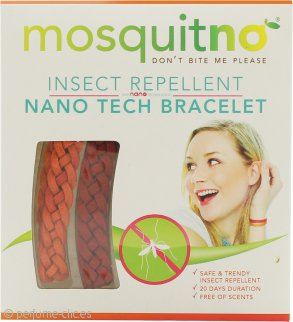 MosquitNo Insect Repellent Nano Pulseras Roja y Naranja