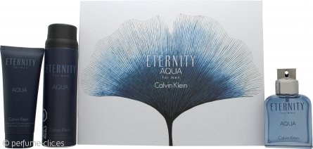 Calvin Klein Eternity Aqua Set de Regalo 100ml EDT + 152g Vaporizador Corporal + 100ml Bálsamo Aftershave