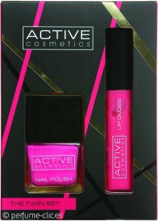 Active Cosmetics The Twin Set Pink Esmalte de Uñas + Brillo de Labios Rosa