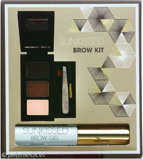 SUNkissed Brow Kit Set de Regalo 2 x Polvo Cejas + Resaltador en Polvo + Gel + Pinzas
