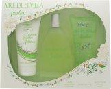 Instituto Español Agua Fresca de Azahar Aire de Sevilla Set de Regalo 150ml EDT Vaporizador + 150ml Gel Exfoliante + 150ml Crema Corporal