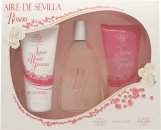 Instituto Español Aire de Sevilla Agua de Rosas Frescas Set de Regalo 150ml EDT Vaporizador + 150ml Gel de Ducha + 150ml Crema Corporal