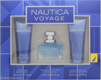 Nautica Voyage Set de Regalo 30ml EDT + 75ml Gel de Ducha + 75ml Bálsamo Aftershave