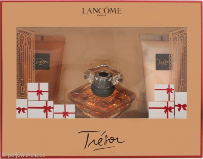 Lancome Tresor Set de Regalo 30ml EDP + 50ml Loción Corporal + 50ml Gel de ducha