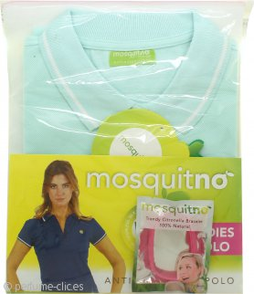 MosquitNo Set de Regalo Tamaño M Anti Mosquito Ladies Polo + Pulsera de Citronela - Colores Variados
