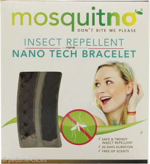 MosquitNo Insect Repellent Nano Pulseras Negra y Marrón