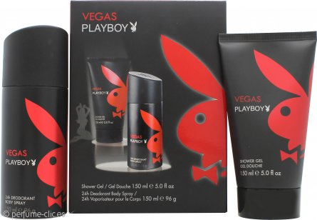 Playboy Vegas Playboy Set de Regalo 150ml Gel de Ducha + 150ml Desodorante en Vaporizador