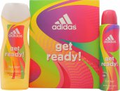 Adidas Get Ready! For Her Set de Regalo 150ml Vaporizador Corporal + 250ml Gel de Ducha