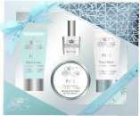 Style & Grace Puro Hand Pamper Kit 70ml Gel Manos + 70ml Loción Manos + 120ml Exfoliante Cutículas + 8ml Esmalte de Uñas