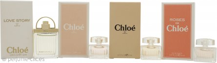 Chloe Set de Regalo de Miniaturas 5ml L'eau de Chloe EDT + 5ml Roses De Chloe EDT + 5ml Chloe EDP + 7.5ml Love Story EDP