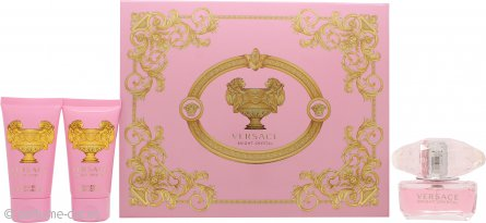 Versace Bright Crystal Set de Regalo 50ml EDT + 50ml Gel de Ducha + 50ml Loción Corporal