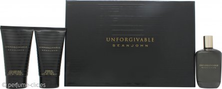 Sean John Unforgivable Set de Regalo 125ml EDT + 100ml Bálsamo Aftershave + 100ml Gel de Ducha