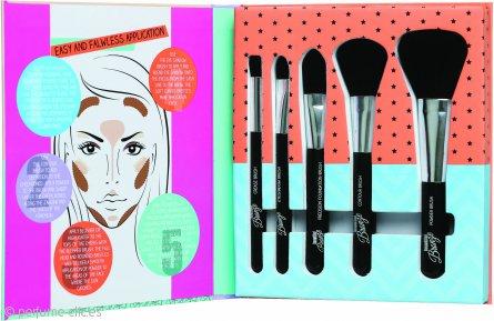 Sunkissed Beautiful Bronze Tools Of The Trade Set de Regalo 1 Brocha de Maquillaje + 1 Brocha de Colorete + 1 Brocha para Contorno + 1 Píncel de Ojos + 1 Píncel para Sombra
