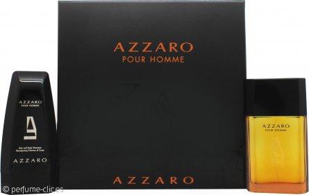 Azzaro Pour Homme Gift Set 100ml EDT + 150ml Champú 2 en 1 Cuerpo y Pelo