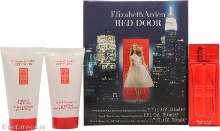 Elizabeth Arden Red Door Set de Regalo 30ml EDT + 50ml Loción Corporal Perfumada + 50ml Gel de Baño y Ducha