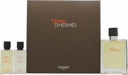 Hermes Terre D'Hermes Set de Regalo 100ml EDT + 40ml Gel de ducha + 40ml Loción Aftershave