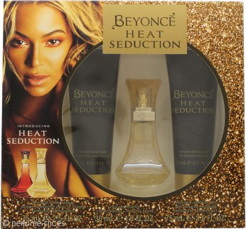 Beyonce Heat Seduction Set de Regalo 30ml EDT + 75ml Loción Corporal + 75ml Gel de ducha