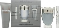Paco Rabanne Invictus Set de Regalo 100ml EDT Vaporizador + 100ml Gel de Ducha + Mini 10ml EDT