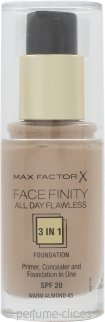 Max Factor Facefinity All Day Flawless 3 in 1 Base 30ml - FPS20 Warm Almond 45