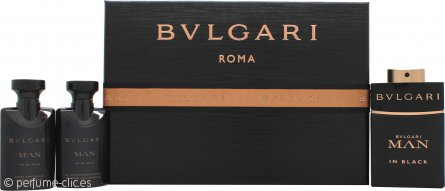 Bvlgari Man In Black Set de Regalo 60ml EDP + 40ml Bálsamo Aftershave + 40ml Gel de Ducha
