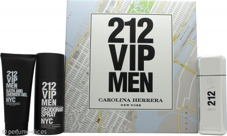 Carolina Herrera 212 VIP Men Set de Regalo 100ml EDT + 100ml Gel de baño/ducha + 150ml Desodorante en Vaporizador
