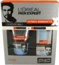 L'Oreal Men Expert Hydra Energetic Barber Shop Set de Regalo 150ml Limpiador de Cara + 50ml Gel Hidratante