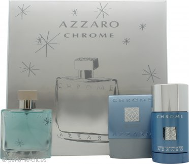 Azzaro Chrome Set de Regalo 50ml EDT + 75ml Bálsamo After Shave + 75ml Desodorante de Barra
