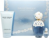 Marc Jacobs Daisy Dream Set de Regalo 100ml EDT Vaporizador + 150ml BLoción Corporal + 10ml Rollerball