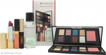 Elizabeth Arden Beauty on the Go Set de Regalo 6.4g x 8 Sombras de Ojos + 2g Colorete + 4ml Luminous Brillo Labial + 3.5g Pintalabios Frambuesa + 50ml Desmaquillante Ojos y Labios