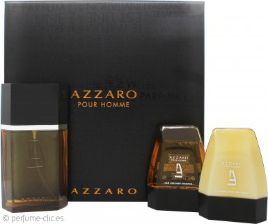 Azzaro Pour Homme Set de Regalo 100ml EDT + 75ml Bálsamo Aftershave + 75ml Champú Cabello y Cuerpo