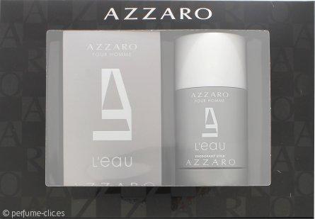 Azzaro Pour Homme L'Eau Set de Regalo 50ml EDT + 75ml Desodorante en Barra