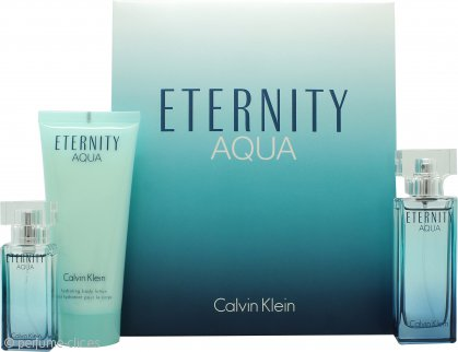 Calvin Klein Eternity Aqua Set de Regalo 30ml EDP + 100ml Loción Corporal + 15ml EDP