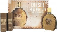 Diesel Fuel For Life Set de Regalo 50ml EDT + 2 x 50ml Gel de Ducha