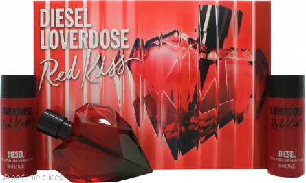 Diesel Loverdose Red Kiss Set de Regalo 50ml EDP + 2 x 50ml Loción Corporal