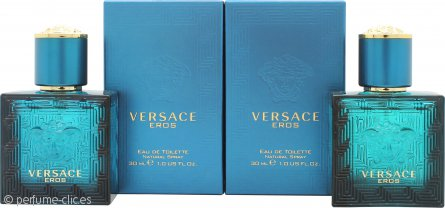 Versace Eros Set de Regalo 2 x 30ml EDT Vaporizador
