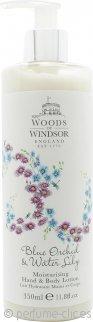 Woods of Windsor Blue Orchid & Water Lily Loción hidratante de manos & Loción Corporal 350ml