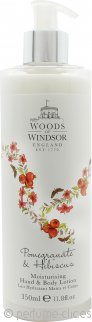 Woods of Windsor Granada & Loción de Manos de Hibisco & Loción Corporal 350ml