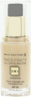 Max Factor Facefinity All Day Flawless 3 in 1 Base 30ml - FPS20 Crystal Beige 33