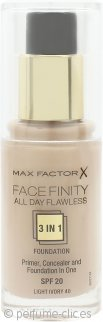 Max Factor Facefinity All Day Flawless 3 in 1 Base SPF20 30ml - 40 Light Ivory
