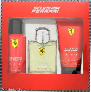 Ferrari Scuderia Ferrari Red Gift Set 125ml EDT + 150ml Deodorant Spray + 150ml Gel 2 en 1 Cuerpo y Pelo