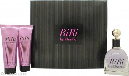 Rihanna RiRi Set de Regalo 100ml EDP + 90ml Loción Corporal + 90ml Gel de ducha